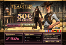 Code bonus Tradition Casino