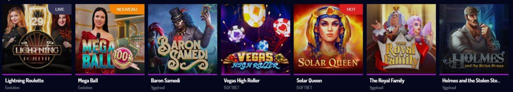 Jeux populaires Lucky8 casino